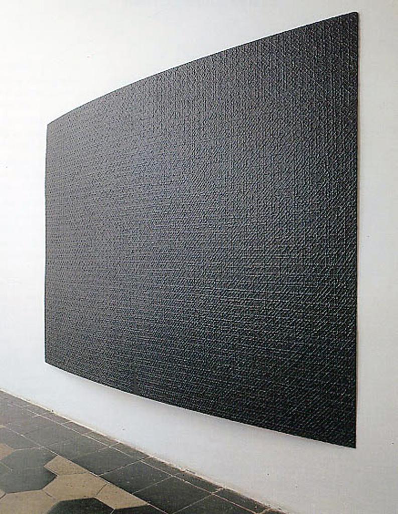 """""""Eccitazione del tempo"""", 1990-91, Acrilico su legno, cm 160x220x10"""