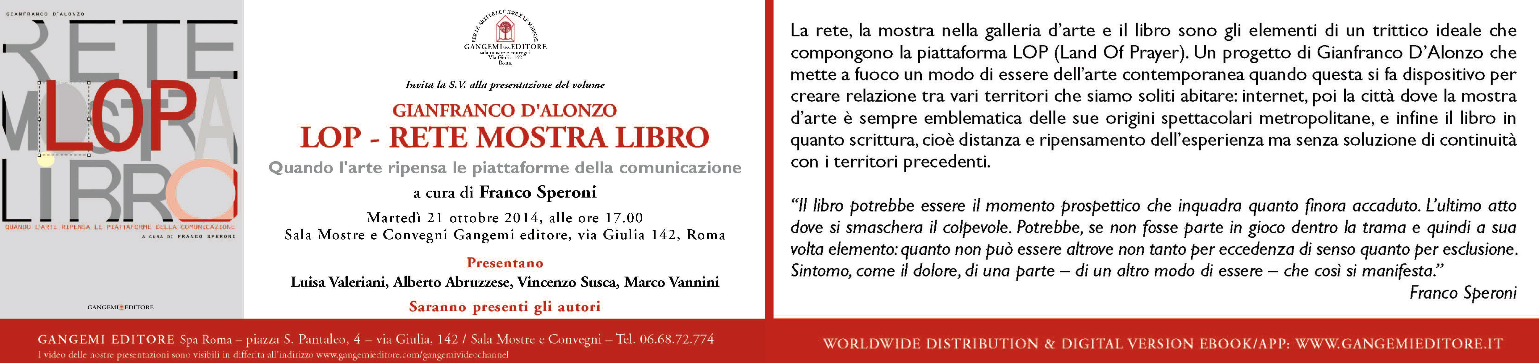 2 D'Alonzo, Invito presentazione libro